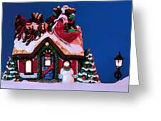 Last Stop For Santa Greeting Card