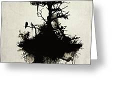 Last Tree Standing Greeting Card by Nicklas Gustafsson