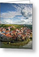 Late Afternoon Light On Staithes Greeting Card