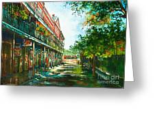 Late Afternoon On The Square Greeting Card by Dianne Parks