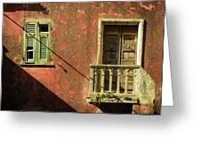 Late Afternoon Stroll Through Legnano Greeting Card
