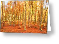 Late Autumn In Calabria Greeting Card