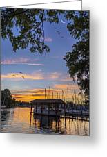 Late Evening On The Cove Greeting Card