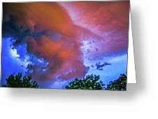 Late Night Nebraska Shelf Cloud 010 Greeting Card