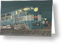 Late Night On The New York Central Greeting Card