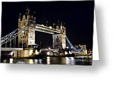Late Night Tower Bridge Greeting Card by Elena Elisseeva