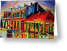 Late On Bourbon Street Greeting Card