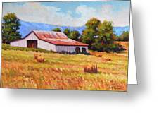 Late Summer Hay Greeting Card