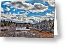 Late Winter At The Tobie Trail Bridge Greeting Card