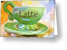 Latte Coffee Cup Greeting Card