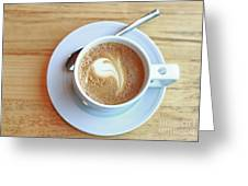 Latte Coffee Drink Greeting Card