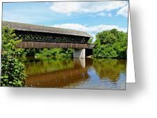 Lattice Covered Bridge Greeting Card