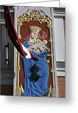 Latvia, Riga, Virgin Mary And Jesus Greeting Card