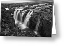 Laugafell Mountain Lodge Waterfalls 3155 Greeting Card