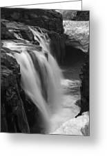 Laugafell Mountain Lodge Waterfalls Iceland 3146 Greeting Card