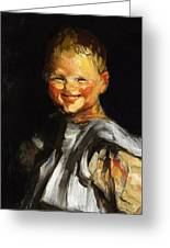 Laughing Child 1907 Greeting Card
