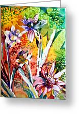 Laughing Flowers Greeting Card