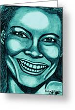 Laughing Girl In Blue 2 Greeting Card