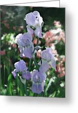 Laughing Iris Greeting Card