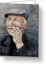 Laughing Old Man Greeting Card