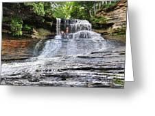 Laughing Whitefish Waterfall In Michigan Greeting Card