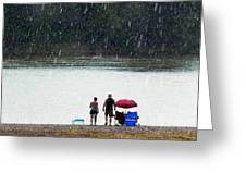 #171 Laughter In The Rain Greeting Card