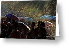 Laughter In The Rain Greeting Card
