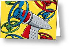 Launcher Gun Greeting Card by Ron Magnes