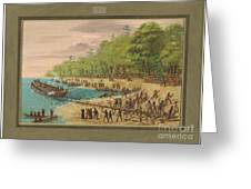 Launching Of The Griffin.  July 1679 Greeting Card