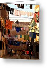 Laundry Day In Venice Greeting Card