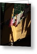 Laundry In The Sun In Venice Greeting Card