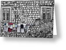 Laundry Line - Dubrovnik Croatia #3 Greeting Card