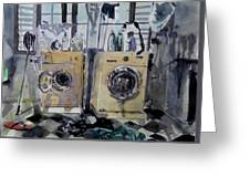 Laundry Room. Greeting Card