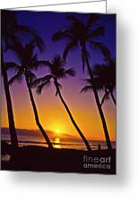Launiupoko Sunset Greeting Card