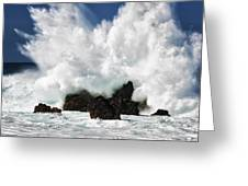 Laupahoehoe Point Explosion Greeting Card