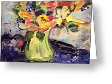 Laura's Antique Vase Greeting Card