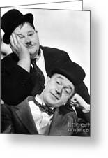 Laurel And Hardy, 1939 Greeting Card