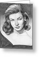 Lauren Bacall Greeting Card