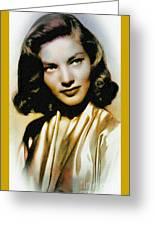 Lauren Bacall - Vintage Painting Greeting Card