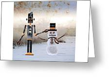 Laurence Builds A Snowman Greeting Card