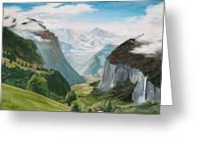 Lauterbrunnen Valley Switzerland Greeting Card