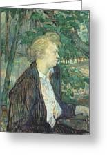 lautrec gabrielle 1891 Henri De Toulouse-Lautrec Greeting Card