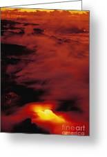Lava At Dawn Greeting Card