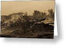 Lava Devastation  Greeting Card
