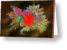 Lava Explosion Greeting Card