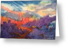 Lava Flow Abstract Greeting Card