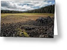 Lava Flow At Hand Lake Greeting Card