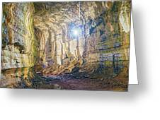 Lava Tunel On Santa Cruz Island, Galapagos Greeting Card