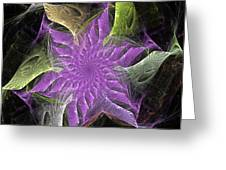 Lavendar Fractal Flower Greeting Card