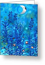 Lavender And Moon Greeting Card